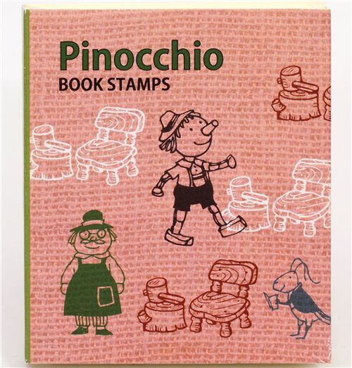 cute fairy tale stamp set Pinocchio