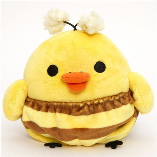Rilakkuma plush toy yellow chick as honey bee