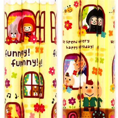 fairy tale pencil Little Red Riding Hood witch animals