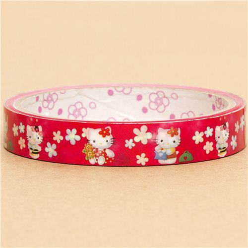 cute Hello Kitty Deco Tape Sticky tape flowers bee