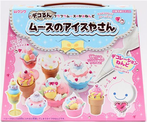 DIY paper mousse clay making kit glitter ice cream