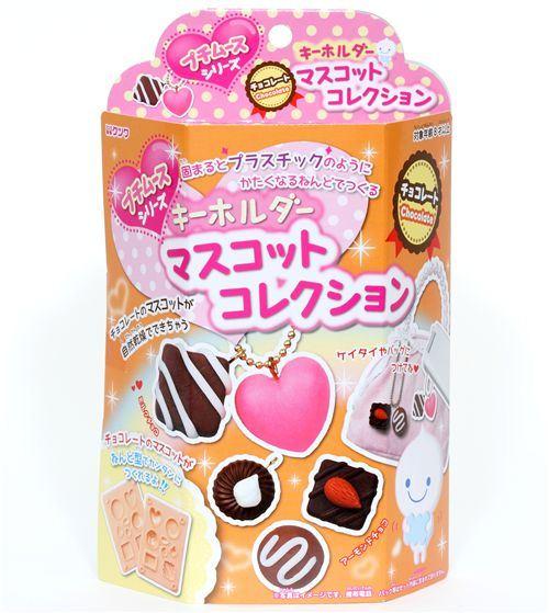 cute DIY clay charms making kit chocolates Japan