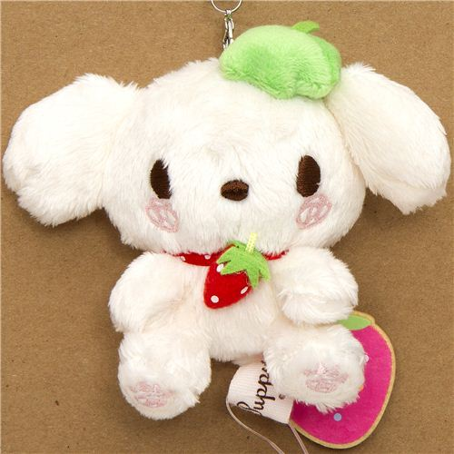 Berry Puppy white puppy big plush cellphone charm