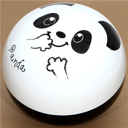 big round panda bear Bento Box lacquer lunch box