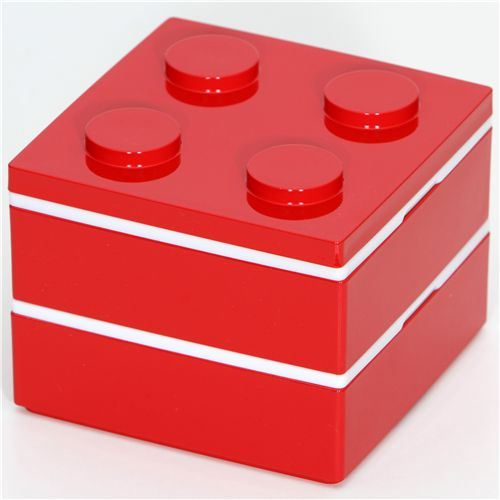 funny red brick Bento Box from Japan