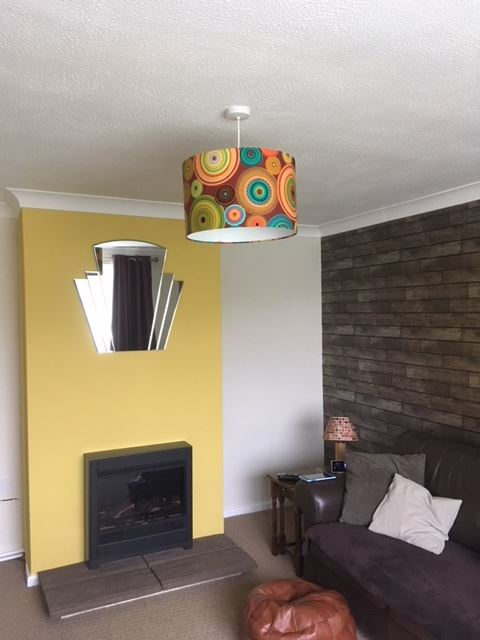 A super cool lampshade by our customer, Ms Julia!
