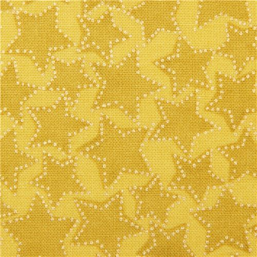 chartreuse Michael Miller fabric gold metallic embellishment Starlight