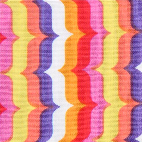 pink red purple Michael Miller fabric colorful Bracket Stripe