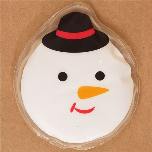 Snowman face pocket warmer hot pad from Japan