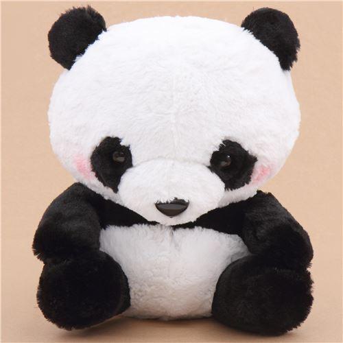 big black white panda squeaky plush toy Japan