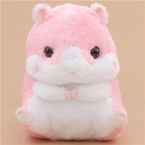 big pink white hamster Coroham Coron Cafe plush toy Japan