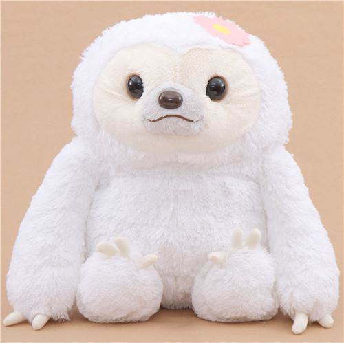 big white sloth Namakemono no Mikke plush toy Japan