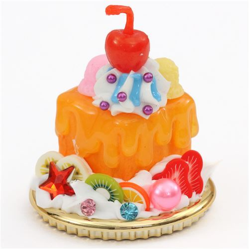 blue orange sauce cherry kiwi honey toast dessert figure from Japan