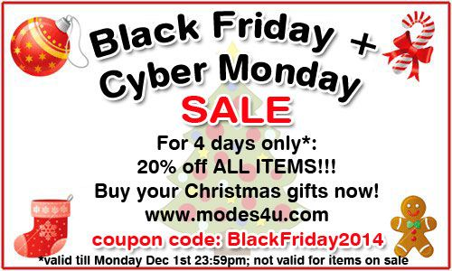 Black Friday Sale 2014: 20% discount for 4 days!