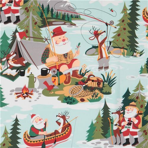 Alexander Henry fabric Christmas Santa at Sugar Mountain
