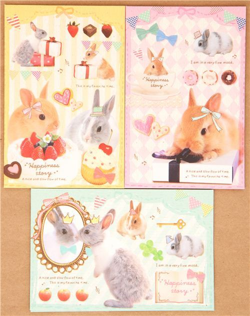 rabbit bunny donut cup Letter Set by Kamio