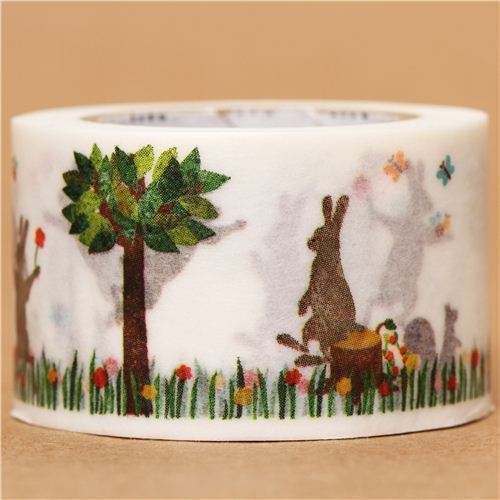 wide rabbit squirrel mt Washi Masking Tape deco tape