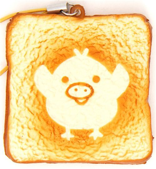 Kiiroitori chick toast bread squishy cellphone charm