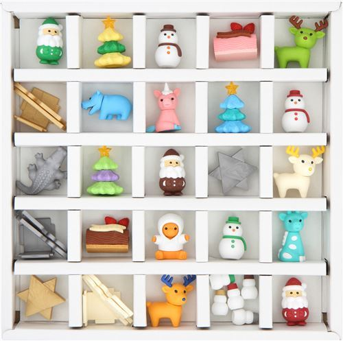 Iwako erasers Advent Calendar Christmas