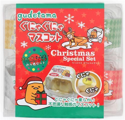 kawaii Gudetama Christmas Special Set 4pcs egg squishy set