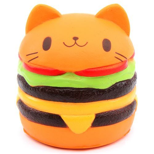 cute jumbo cat hamburger scented squishy cheeseburger