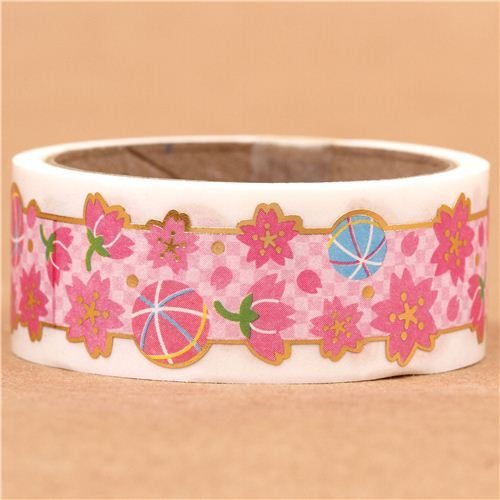 die-cut cherry blossom deco tape sticky tape kawaii