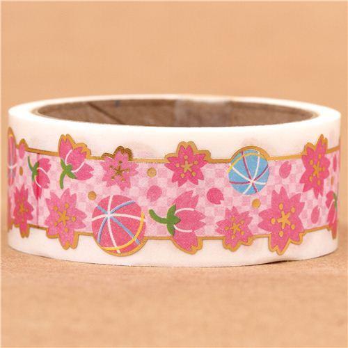 die-cut cherry blossom deco tape sticky tape kawaii