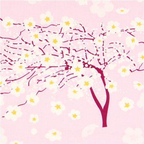 lilac flower fabric Michael Miller Breeze cherry blossom