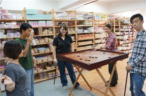 Chinese Pool Challenge In The Office ModeS Blog - Chinese pool table