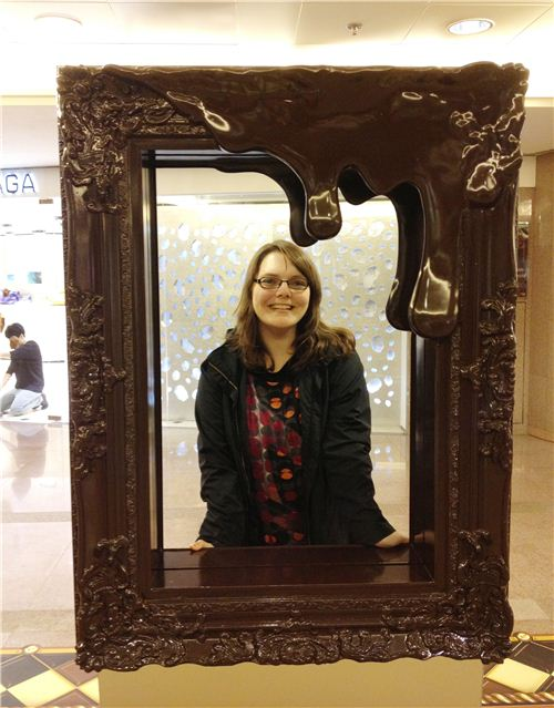 The chocolate frame was a super popular photo motif