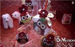 DIY Christmas Decoration Tutorial with Christmas Owls Fabric (Spanish)