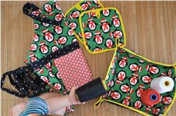 Christmas apron, breadbox & pot holder (Spanish Blog)