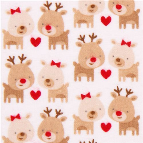 white Riley Blake Xmas flannel fabric Home for the Holidays