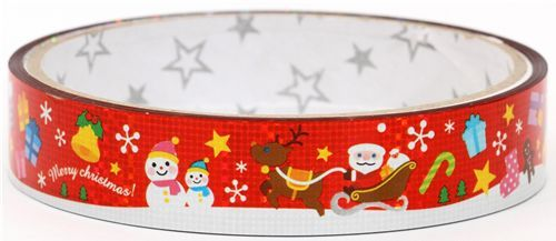 cute christmas Deco Tape glitter kawaii