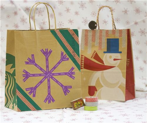 Today's Christmas craft: Christmas Washi Paper Bags