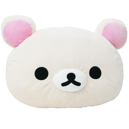 super big Rilakkuma white bear head plushie pillow