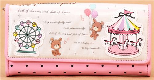 big white-pink bear carnival wallet by Crux