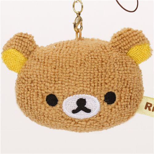 Rilakkuma brown bear head plush charm by San-X