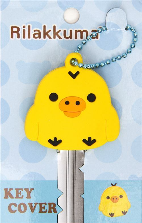 yellow Kiiroitori chick key cover charm