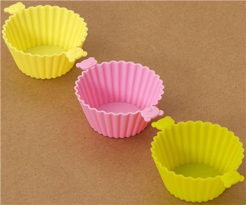 kawaii Rilakkuma bear silicone bowls 3 pcs Bento cups
