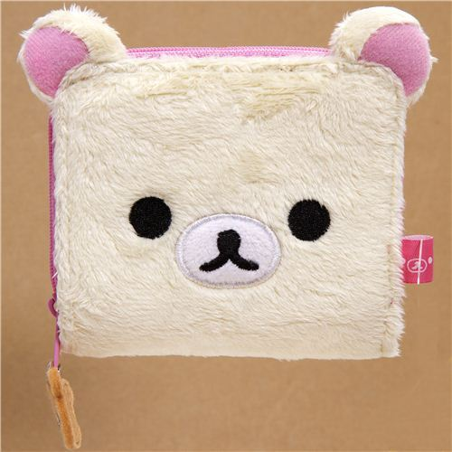cute Rilakkuma plush wallet white bear by San-X