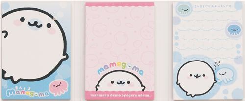 big Mamegoma baby seals Post-it sticky notes book
