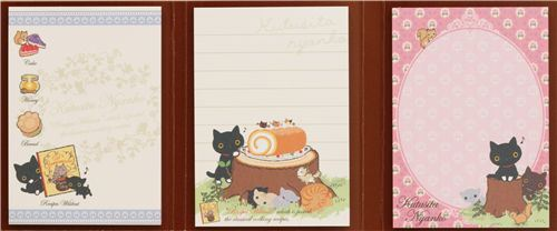 big kitty Post-it sticky notes book Kutusita Nyanko