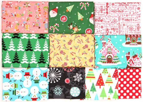 You can win this package with 10 Christmas fabrics