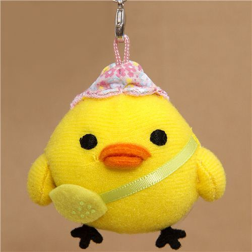 Rilakkuma plush charm yellow chick with bag San-X