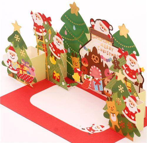 Pop-up santa giveaways