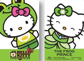 Hello Kitty as Frog and Princess