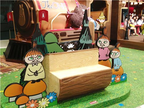 A cute trunk bench in Moomin design