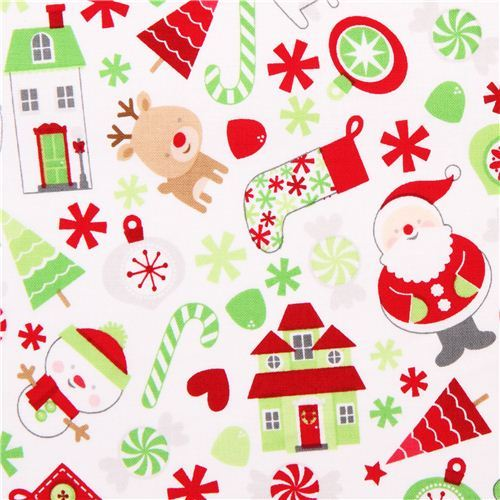 Riley Blake Santa Claus Xmas fabric Home for the Holidays