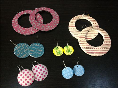 A super fast DIY: Washi Tape earrings